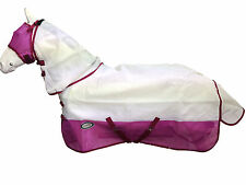 AXIOM WHITE/PINK STRONG MESH FLYSHEET HORSE COMBO - 5' 6 (FREE FLYMASK)