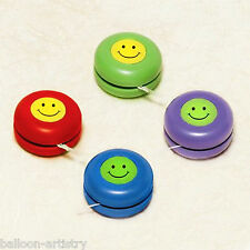 6 Children's Smiley Face Party Favours Loot Gifts Yo Yo's Toys