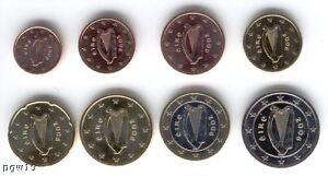 Ireland 2009 - Set of 8 Euro Coins (UNC) **VERY RARE**