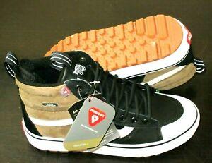 Vans Men's Sk8-Hi Mte 2.0 Dx Skate Boots Dirt Brown True White Black Size 10 NWT