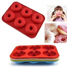 Silicone Donut Baking Moulds Pan Non-stick Mold for 6 Full Doughnuts Bagel Tray