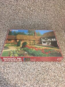Jumbo 2000 Piece Puzzle brand New A Spring Garden In The Country factory sealed