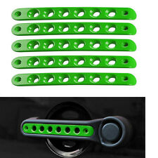 5x Green Door Grab Handle Covers Bar Sticker Aluminum Trim For Jeep Wrangler JK