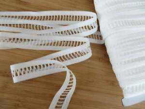 4mts of polyester insert ladder lace trim White superior quality 22mm width