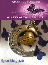 BRAND NEW MOM (MUM) LOVE YOU TO THE MOON AND BACK NECKLACE PENDANT 11