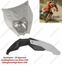 HEADLIGHT FELIX APPROVED WHITE AND MUDGUARD WHITE YAMAHA TT XT YZF WR WRF SM
