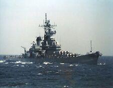 USS NEW JERSEY 8X10 PHOTO NAVY US USA MILITARY BB-62 SHIP BATTLESHIP WWII IOWA C