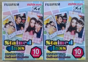 Fujifilm Instax Mini STAINED GLASS Film, 20 Shots (Dated 02/2019)