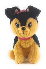 """BARBIE Black/Brown Electronic Puppy Dog Barks Pants Lighted Collar 11"""" Plush"""
