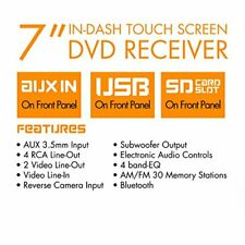 """New listing Xo Vision X358 7"""" In-Dash Touchscreen Dvd Receiver with Bluetooth"""