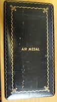 US WWII USAAF AIR MEDAL COFFIN CASE BOX EXTRAS