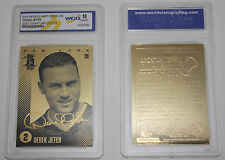 DEREK JETER 2004 Laser Line Gold Card GOLD SIGNATURE Edition Graded GEM MINT 10