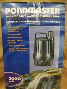 NEW Pondmaster Model 02660 Skimmer Pump 3000 gph Magnetic Drive Waterfall Pump