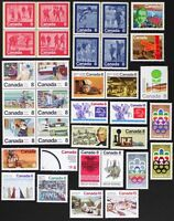 CANADA Postage Stamps, 1974 Complete Year Set collection, Mint NH, See scans