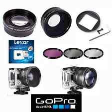FISHEYE LENS + TELEPHOTO ZOOM LENS + FILTER KIT + 32GB KIT FOR GOPRO HERO4 HERO3