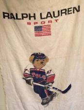 Vintage - Polo Ralph Lauren - Polo Sport Bear Hockey - Beach Towel