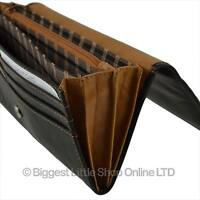 NEW Ladies QUALITY Leather Purse/Wallet by GOLUNSKI Black & Tan Zen Collection