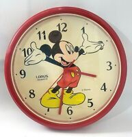 Vintage Mickey Mouse Disney Lorus Quartz Wall Clock Japan,Working