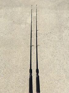 "2 Shakespeare GX2 Ugly Stik 6'6"" Medium Spinning Rods USSP662M"
