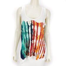 American Rag Cie Sleeveless Tank Top American Flag Stars Stripes Blouse 0X NEW