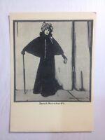 Old postcard Sarah Bernard Engraving Picture postcards Postcard collection 1957