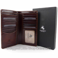 NEW Mens ITALIAN LEATHER Slim Suit WALLET by Visconti Veg Tan Classic Gift Boxed