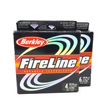BERKLEY FIRELINE SMOKE FUMEE PE BRAID FISHING LINE 114M 125yds 4LB #0.6 6LB #0.8