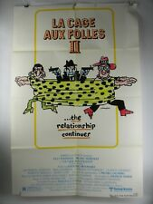 "Vtg 1981 LA CAGE AUX FOLLES II 27"" x 41"" Original Movie Poster Michel Serrault"