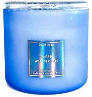 Bath & Body Works Fresh Winter Air Iridescent 3 Wick Candle 14.5oz faceted Lid