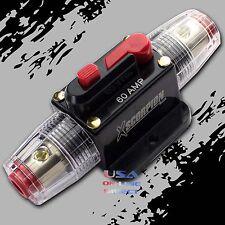 Marine Grade Gold Inline 12 Volt 60 Amp Power Circuit Breaker manual reset Audio