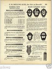 1925 PAPER AD Louisville Slugger Decal Hand Made Ty Cobb Baseball Bat Masks