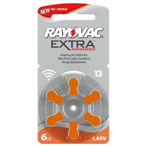Rayovac size 13 Orange Hearing Aid Batteries 60 Batteries in total