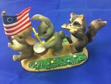 "Fitz & Floyd Charming Tails Patriotic Figurine ""Free to Be Friends"" 89/116"