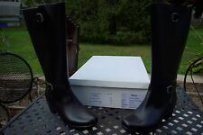 NIB Clark's Ladies Black Leather Knee Boots Salesman Samples Size 7 M Gorgeous!
