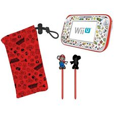Nintendo Wii U Officially Licensed Super Mario Family Protection Kit w Stylus