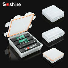 Soshine 8 Kinds Hard Plastic Battery Storage Boxes with Hook for 18650 Cells DC