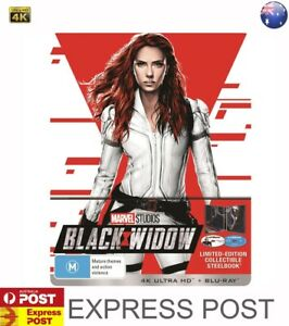 BLACK WIDOW 4K STEELBOOK LIMITED EDITION COLLECTIBLE ==LIKE NEW==