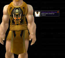 *** TABARD OF THE DEFENDER - ORANGE *** WORLD OF WARCRAFT WOW LOOT TCG UDE