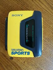 SONY WM-B53 SPORTS WALKMAN PERSONAL CASSETTE PLAYER - Vintage - Yellow