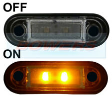 HELLA TYPE LED FLUSH FIT KELSA LIGHT BAR MARKER LAMP LIGHT 12v 24v AMBER LAML001