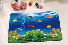"15X23"" Kitchen Bath Doormat Non-Slip Bathmat Rug Carpets Underwater World Scenes"