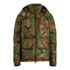 Polo Ralph Lauren El Cap military camo down jacket coat parka removable hood, M