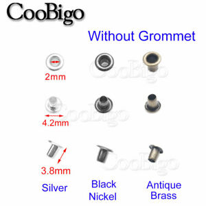 100X Metal Eyelets Grommets Washers Leather Craft Kit for DIY Garment 2mm~17mm