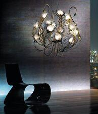 Lampadario classico di design nichel e oro coll. BELL musa 1812/L15L
