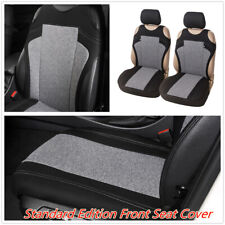 2Pcs Breathable Fabric Car T-Shirt Style Front Seat Cover Cushion Accessories