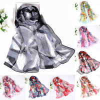 New Fashion Women  Leaf pattern Soft Chiffon Scarf Wrap Shawl Stole Scarves