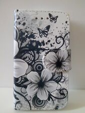 New Floral Design PU Leather Wallet Stand Case Cover for Apple iPhone & Samsung