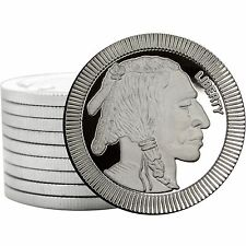 SilverTowne Buffalo Stackables 1oz .999 Silver Medallion (10pc)