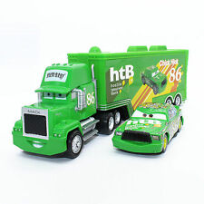 Disney Pixar Car No.86 Mack Racer's Truck & Chick Hicks Spielzeug Auto 1:55 Neu