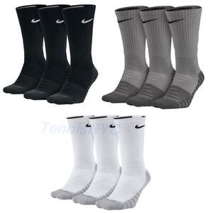 NIKE Everyday Max Cushion Crew Socks Tennis Training Basketball Unisex SX5547